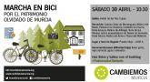 Cambiemos marcha este sábado en bici por el patrimonio olvidado de la huerta de Murcia