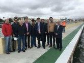 Las obras de ampliación del puerto de Lo Pagán estarán terminadas antes del verano