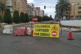 Corte de tráfico en la Alameda de San Antón para su asfaltado