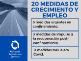 El sector español de la Carretera traslada al Gobierno 20 medidas para recuperar el crecimiento y activar el empleo