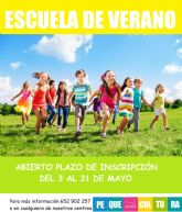 La Escuela de Verano de la red municipal de guarderías de Puerto Lumbreras abre el próximo lunes 3 de mayo el plazo de inscripción
