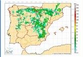 Las tormentas llegan a la Región de Murcia