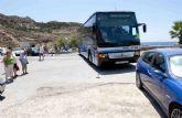 Una línea de autobús volverá a unir Cala Cortina y El Portús a partir del viernes