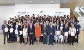 Cuatro estudiantes de Murcia reciben una beca de 'la Caixa' para cursar doctorados en universidades y centros de investigación de referencia de España