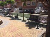 Instalan nuevos juegos biosaludables en la plaza del Raso de la Maderera