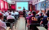 La Policia Local imparte una charla sobre seguridad vial en el Centro de Buceo de la Armada