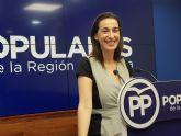 Nuria Fuentes: 'Mientras el presidente López Miras demanda soluciones para la Región, Diego Conesa busca el aplauso fácil y la foto'