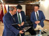 López Miras recibe al presidente de la Unión de Cooperativas de la Región de Murcia (Ucomur)