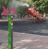 Cieza amplía las tareas de desinfección a los juegos de los parques infantiles