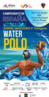 El Club Waterpolo Murcia, seleccionado por la Real Federación Espanola de Natación como sede organizadora del Campeonato de Espana Juvenil Masculino de Waterpolo