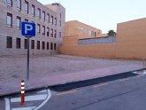 Habilitan como aparcamiento disuasorio el solar de la calle Santa Bárbara, existente entre el Centro de Salud y los Juzgados