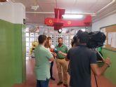 Rafael Gómez supervisa los trabajos de limpieza y puesta a punto de los colegios del municipio de Murcia