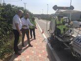 Fomento mejora la seguridad de cinco tramos de carreteras regionales en Albudeite, Campos del Río y Mula