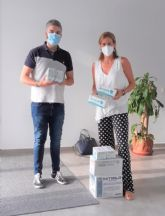 La Alcaldesa de Archena realiza una nueva entrega de material de protección contra la COVID-19 a la Residencia de personas mayores ´Nuevo Azahar´