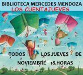 Noviembre, un mes de cuentacuentos en las bibliotecas Salvador García Aguilar y Mercedes Mendoza de Molina de Segura