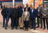 Pascual Lucas traslada personalmente al ministro de Agricultura las bondades del melocotón ciezano en su visita a Fruit Attraction