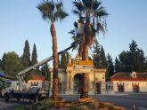El Ayuntamiento revisa las zonas verdes municipales del exterior de los cementerios