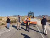 La Comunidad mejora la confortabilidad de la carretera que une la pedanía molinense de La Hurona con la Estación de Blanca