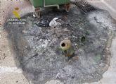 La Guardia Civil detiene al presunto autor de medio centenar de incendios en el casco urbano de Totana
