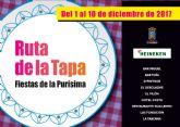 Nueve locales participan en la ruta de la tapa de las fiestas de la Pur�sima