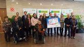 Violante Tomás asiste a la presentación del cupón que la ONCE dedica al Día Internacional de las Personas con Discapacidad
