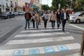 Instalación de pictogramas en los pasos de peatones para la integración de personas con discapacidad