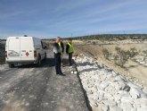 El Concejal de Urbanismo, Obras Públicas y Agricultura, visita las obras de acondicionamiento y pavimentación de caminos rurales