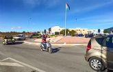 Unos 300 vehículos marchan en Alguazas para reivindicar el cambio de la salida del Arco del Noroeste