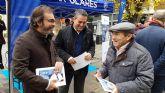 La campaña explicativa de los Presupuestos Regionales para el próximo año llega esta mañana a Alcantarilla