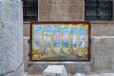 El mural de Ramón Alonso Luzzy ´El Puerto Romano´ regresa a la Morería Baja tras su restauración