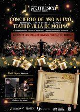La Orquesta Sinfónica de Jóvenes Ciudad de Murcia ofrece el Concierto de Año Nuevo en el Teatro Villa de Molina el domingo 3 de enero, con obras de Strauss y Beethoven