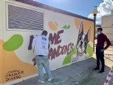 La Concejalía de Juventud pinta murales artísticos en Alguazas