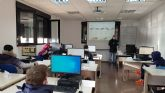 Los alumnos  trabajadores del Programa Mixto de Empleo y Formación JV San José 1 de Molina de Segura inician la formación en prevención de riesgos laborales e informática