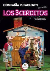 Pupa Clown representa el espectáculo LOS TRES CERDITOS el domingo 2 de febrero en el Teatro Villa de Molina