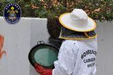 La primavera activa las actuaciones de bomberos de retirada de enjambres de abejas