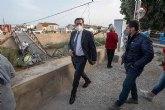 El Ayuntamiento asegura la zona alrededor del puente desprendido entre El Raal y Beniel