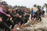 San Pedro del Pinatar congrega a más de 400 triatletas con los campeonatos Regional y nacionales universitarios