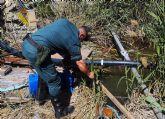 La Guardia Civil investiga a una persona por la captación ilegal de agua de la rambla El Salar