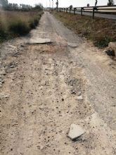 Arreglo de las vías de servicio de la Nacional 344 a su paso por Las Torres de Cotillas