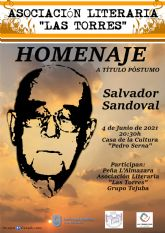 Las Torres de Cotillas rinde un homenaje póstumo a su poeta Salvador Sandoval