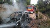 Incendio de un turismo en la carretera de Fortuna entre el Coto de Cuadros y el cine Flipper