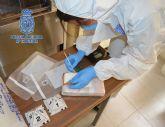 Un kilogramo de cocaína incautado y dos detenidos en un control en vía pública de la Policía Nacional