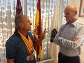 Recepción oficial al velocista Ángel Salinas por su gran actuación en el Nacional de veteranos