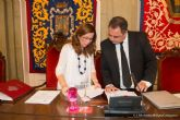 Ana Belen Castejon preside su primer pleno municipal