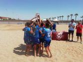 El Playas de San Javier, campeón de la liga nacional de fútbol playa femenino