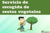 El Ayuntamiento habilita un servicio especial de teléfono para reforzar la recogida de restos vegetales en las zonas costeras de Cartagena