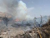 Incendio de monte bajo en Águilas