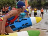 Un centenar de benjamines y alevines en el regreso de la competición nacional de salvamento y socorrismo a Canarias en formato piscina y playa