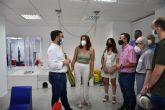 El alcalde de Lorca visita la Escuela de Verano que la Asociación de Enfermedades Raras D´Genes está realizando en las instalaciones de su Centro Multidisciplinar `Cristina Arcas Valero'