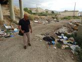 IU demanda la actuación urgente sobre las escombreras ilegales presentes en el Río Guadalentín